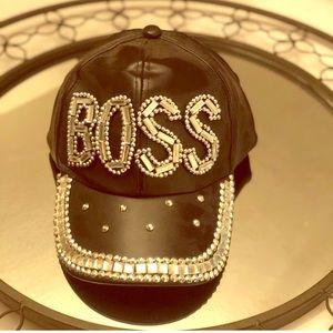 NWT Boss Hat. Blinged Boss hat with rhinestones
